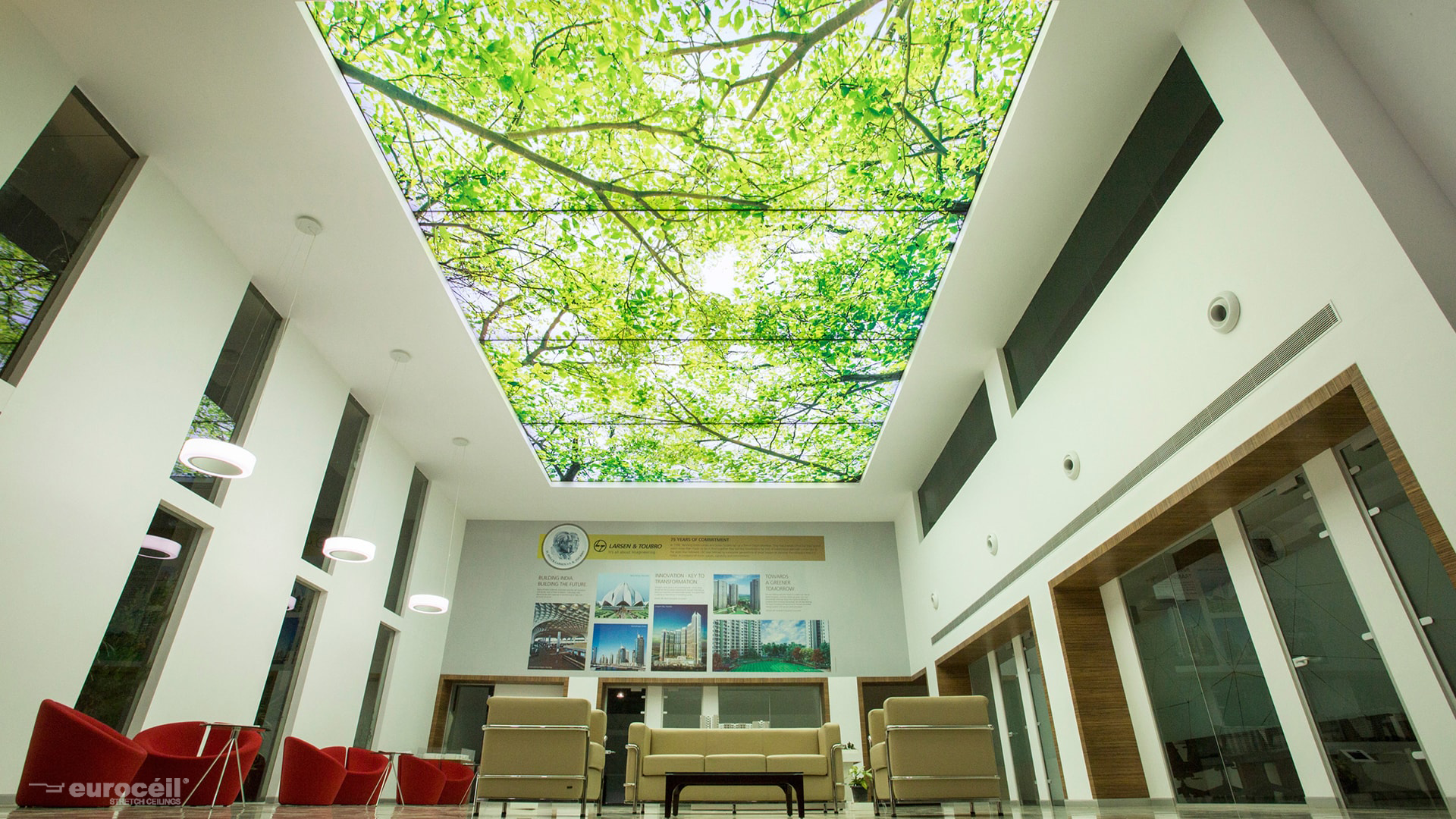 L&T - Stretch Ceiling Printed Translucent with Backlighting in Corporate - Corporate - Bangalore