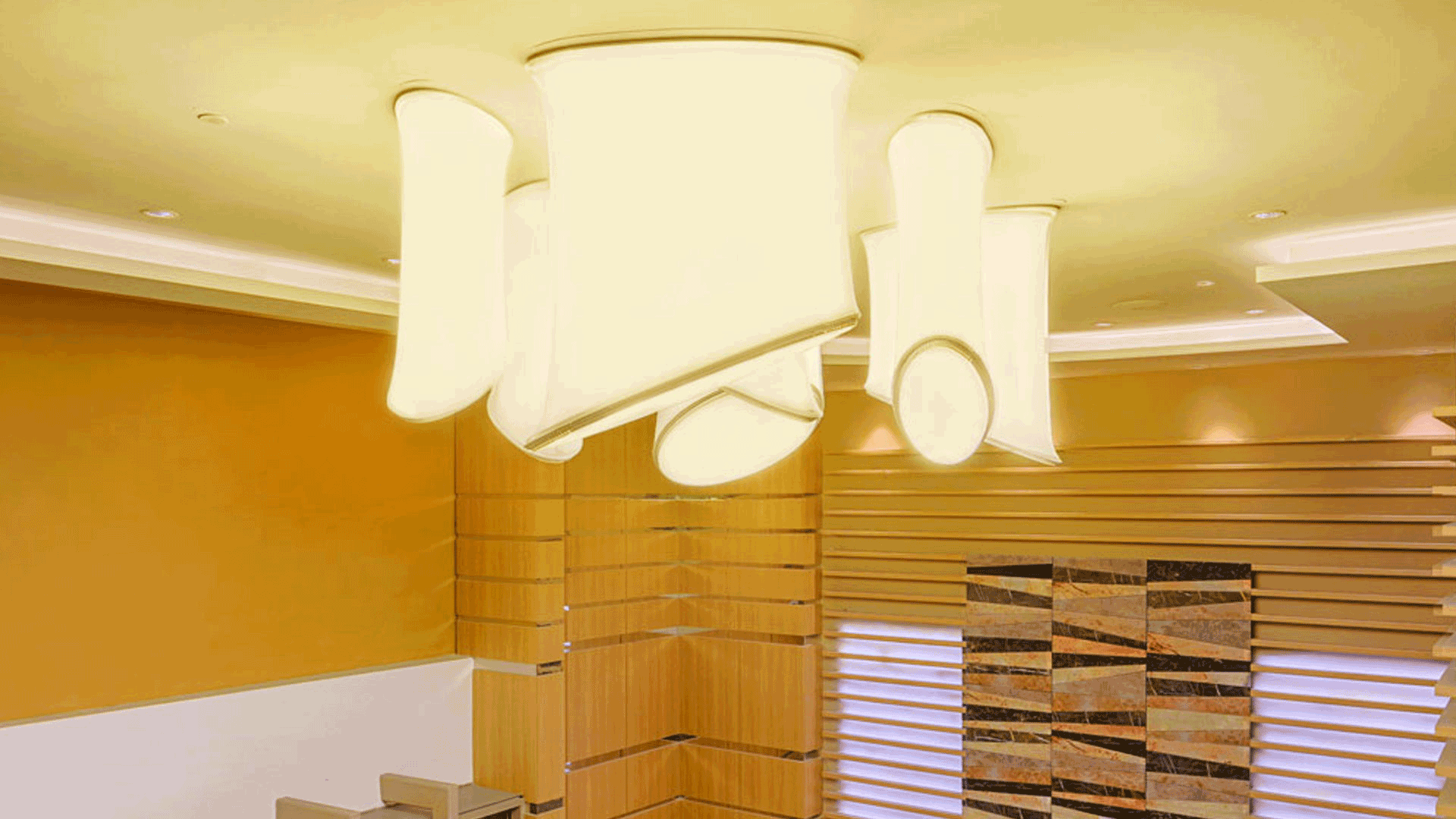Holiday Inn - 3d Stretch ceiling translucent with backlighting in retail